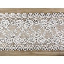 Luxe decoratief kant off-white, 15cm x 9mtr