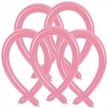 Modelleer ballonnen licht roze, 25 stuks