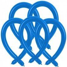 Modelleer ballonnen blauw, 25 stuks
