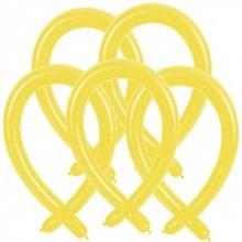 Modelleer ballonnen geel, 25 stuks