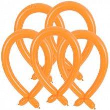 Modelleer ballonnen oranje, 25 stuks