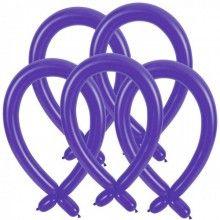 Modelleer ballonnen paars, 25 stuks