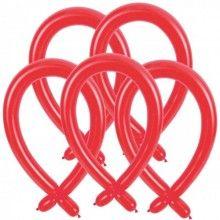 Modelleer ballonnen rood, 25 stuks