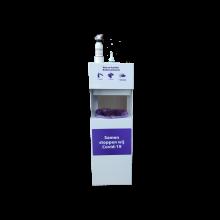 Desinfectiemeubel wit incl. 1L desinfectiegel, 1L Alcoholspray en 1 rol papier