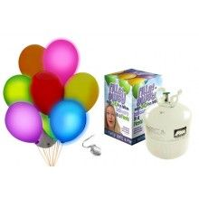 Heliumtank met 20 LED ballonnen
