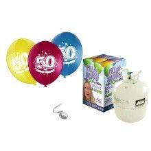 Heliumtank met 30 ballonnen Sarah 50 jaar