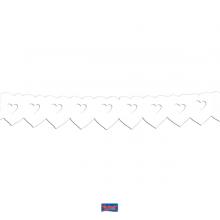 Papieren slinger dubbel wit hart, 6 meter