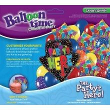 Ballonnen combi set Party's here XL