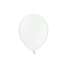 Party ballon 27cm wit, 50 stuks