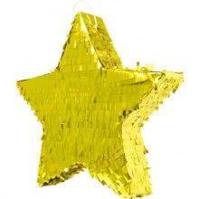 Pinata ster goud metallic