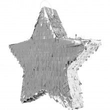 Pinata ster zilver metallic