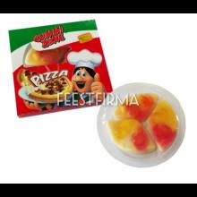 Verpakt snoep 3 pizza slices in doosje, 5 stuks