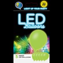 LED ballonnen groen 5 stuks