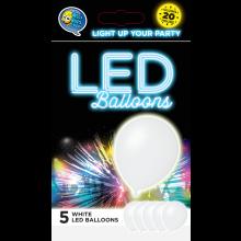 LED ballonnen wit 5 stuks
