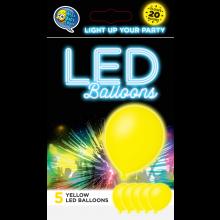 LED ballonnen geel 5 stuks
