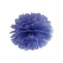 Pompom donkerblauw 35cm, per stuk