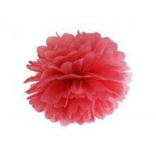 Pompom rood 35cm, per stuk