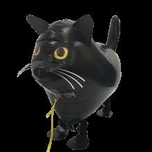 Walking Balloon Zwarte kat