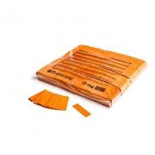 Slowfall paper confetti oranje rectangles 17 x 55mm, brandvertragend