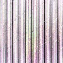 Papieren rietjes iridescent, 10 stuks