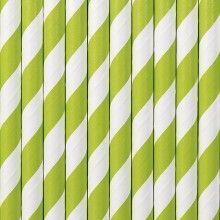 Papieren rietjes twist appel groen, 10 stuks