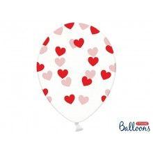 Ballonnen transparant met rode harten