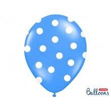 Ballonnen polka dots blauw wit