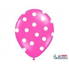 Ballonnen polka dots rose wit