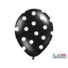 Ballonnen polka dots zwart wit