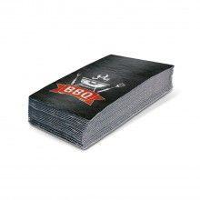 Servetten 33 x 33cm BBQ black, 16 stuks