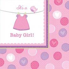 Servetten geboorte meisje It's a Baby Girl!