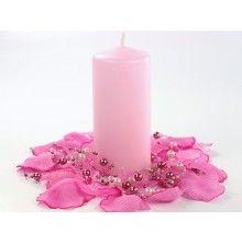 Stompkaarsen roze