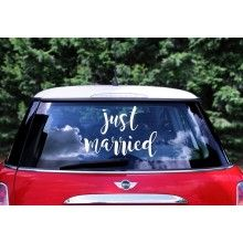 "Trouwauto sticker ""Just Married"""