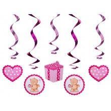 Swirl Slingers Teddybeer roze, 5 stuks