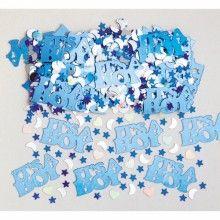 Tafelconfetti It's a Boy met hartjes, maan en sterren, zakje 14 gram