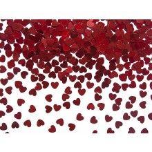 Metallic tafelconfetti kleine hartjes 5mm, 30 gram