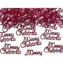 Tafelconfetti Merry Christmas metallic rood