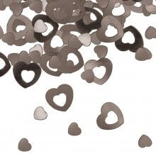 Tafelconfetti hart zilver