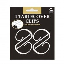 Tafelkleed clips transparant, 4 stuks