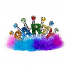 Tiara Party multicolour met pluche rand