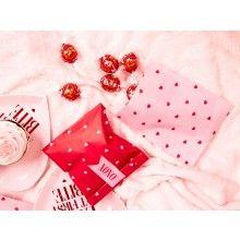 Papieren traktatiezakjes Valentijn met stickers, 6 stuks