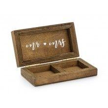 Houten trouwringen doosje, 10 x 5.5cm