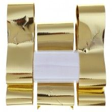 Trouwauto decoratieset goud metallic, 6-delig