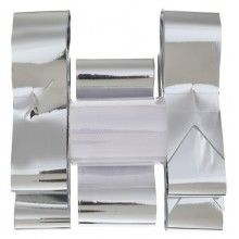Trouwauto decoratieset zilver metallic, 6-delig