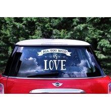 "Trouwauto sticker ""All you need is Love"""