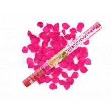 Confetticanon 60cm roze rozenblaadjes