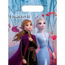 Frozen 2 uitdeelzakjes, 6 stuks