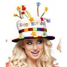 Hoed verjaardagstaart Happy Birthday