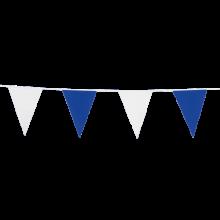 Vlaggenlijn slinger 10 meter blauw en wit
