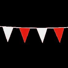 Vlaggenlijn slinger rood en wit, lengte 10 meter